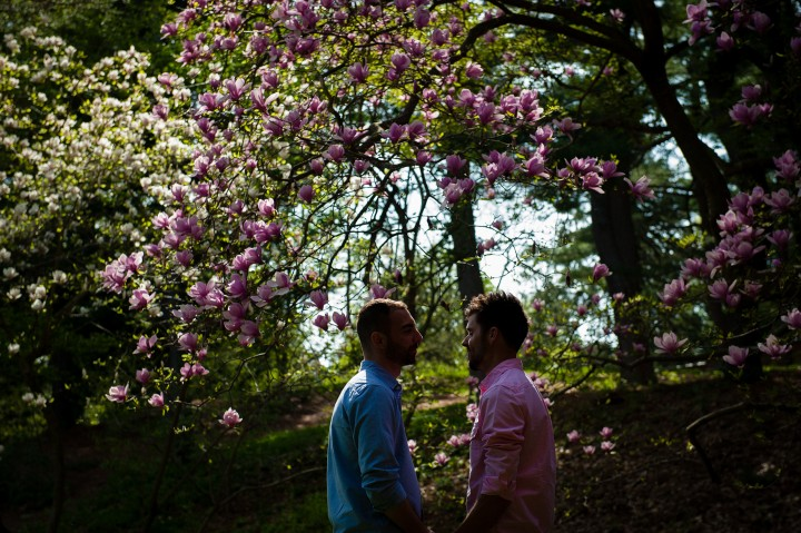 Same Sex Engagement Session at Arnold Arboretum
