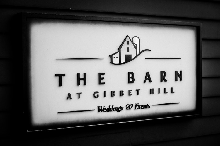 The Barn at Gibbet Hill wedding sign
