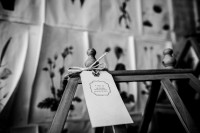 Very creative business tags for Flora an asheville wedding florist