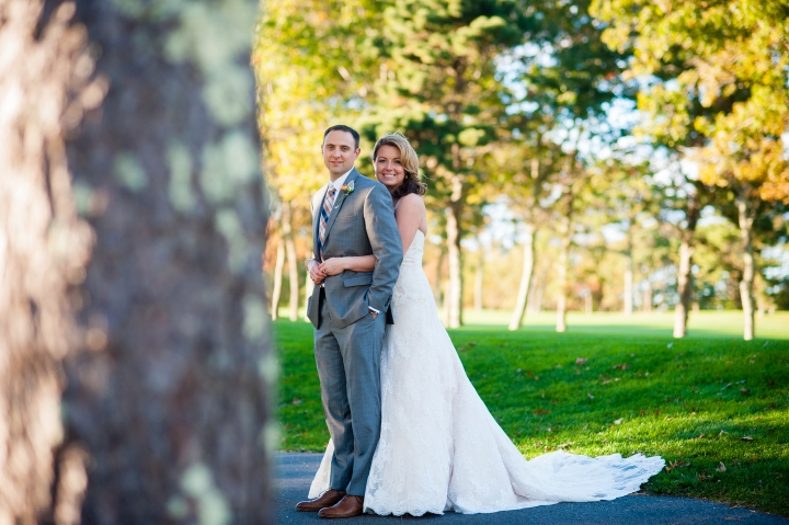 beautiful bride and groom golf club wedding
