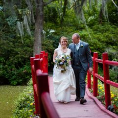 wedding day portrait at Magnolia Plantation in Charleston