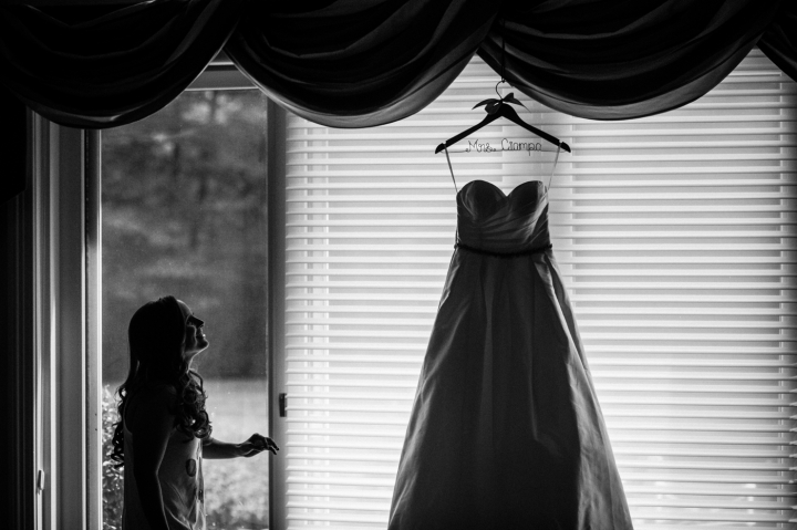 asheville bride during getting ready