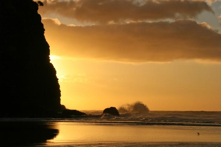 Kalalau beach sunset - Kauai destination wedding photography