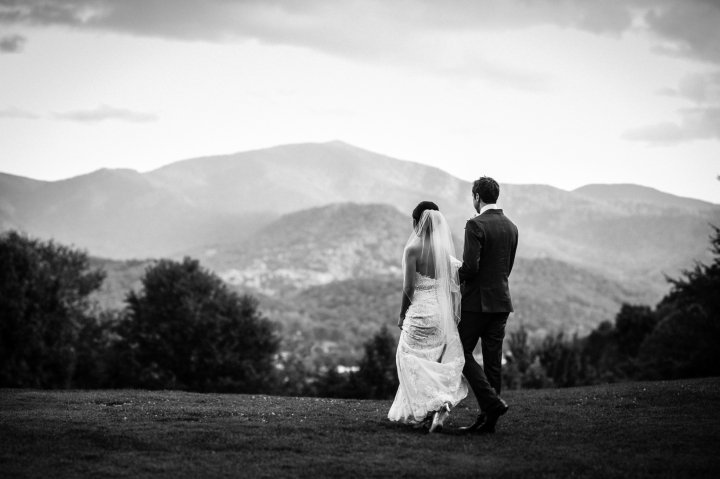 waynesville wedding photos on a mountaintop
