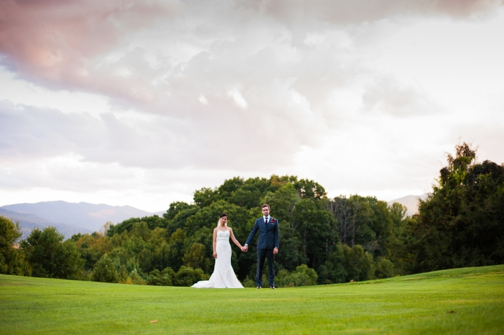 asheville wedding photographer bride and groom portraits