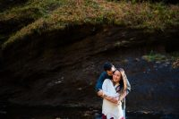 looking glass falls engagement photo