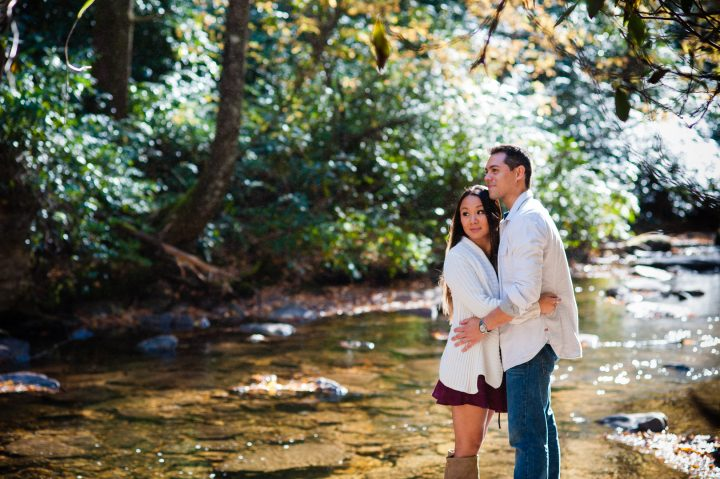 looking glass falls engagement session