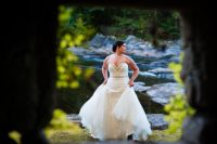 bridal portrait at brown mountain beach resort