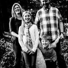 fun family portrait in flat rock nc