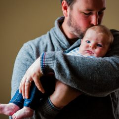 precious newborn with his dad in tryon nc