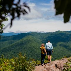 a mountaintop adventure engagement