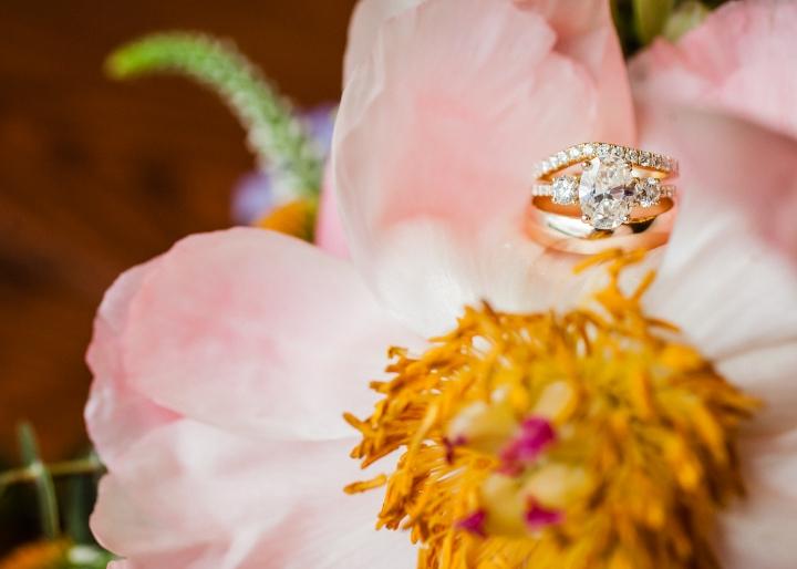 vintage wedding ring at vineyards at b