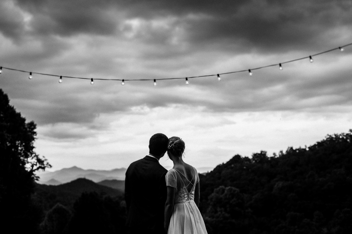 mountain wedding portrait near the great smoky mountains