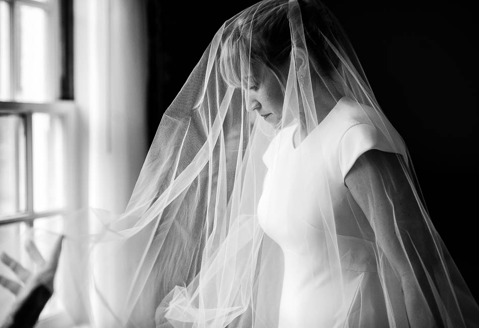 asheville bridal portrait during wedding