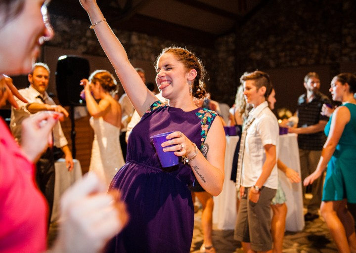 guests having fun at Anderson Auditorium reception at Montreat College