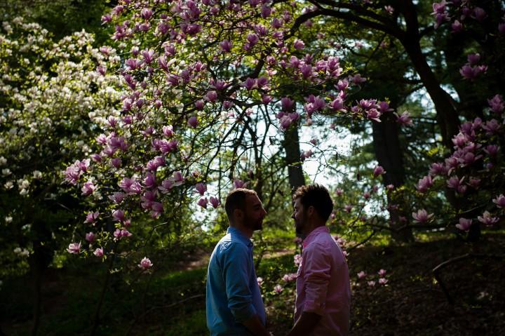 Same Sex Engagement Session at Arnold Arboretum