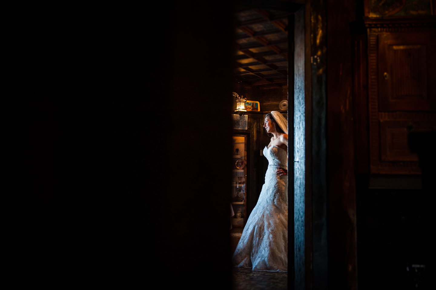 bride waits patiently for the ceremony to begin