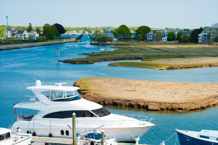Gloucester MA marina is always packed with boats