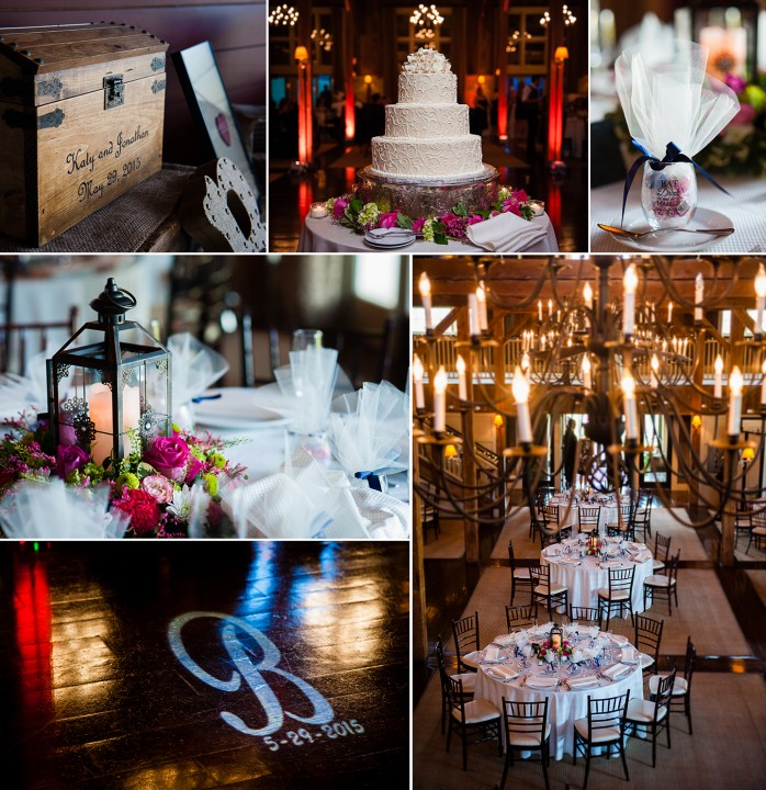 Gorgeous rustic barn wedding details with purple flowers