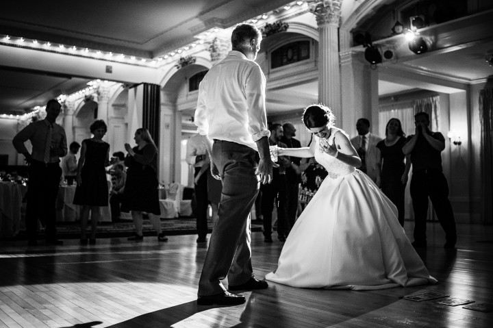 the beautiful bride and her dad danced up a storm during the wedding reception