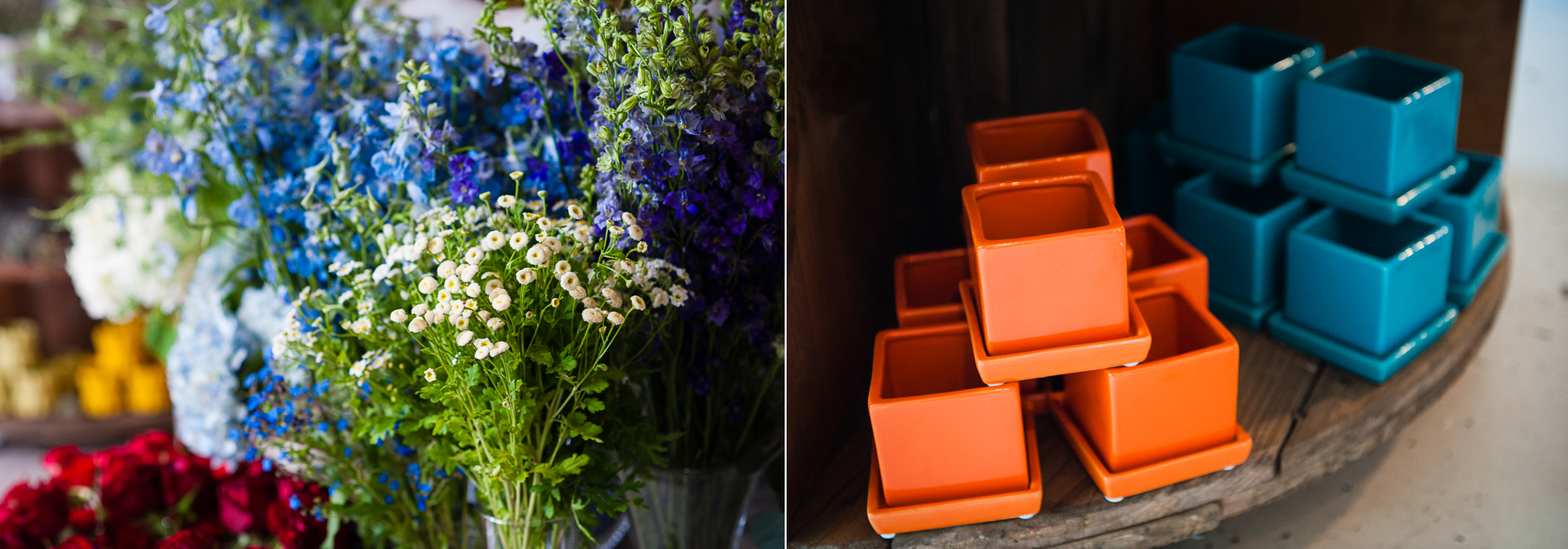 floras gorgeous vases are filled with gorgeous wedding florals in asheville