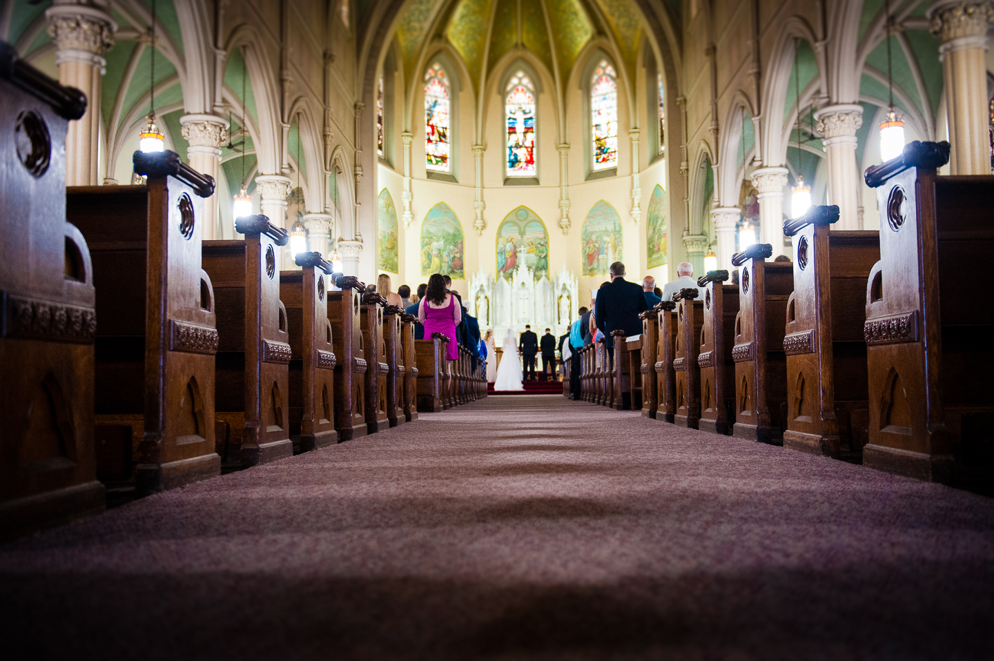 a gorgeous old new england church was the setting for this wedding ceremony