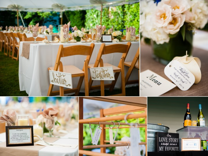 these tented wedding details were stunning