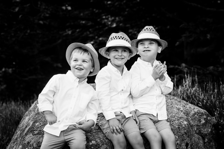 adorable ring bearers smiling and clapping