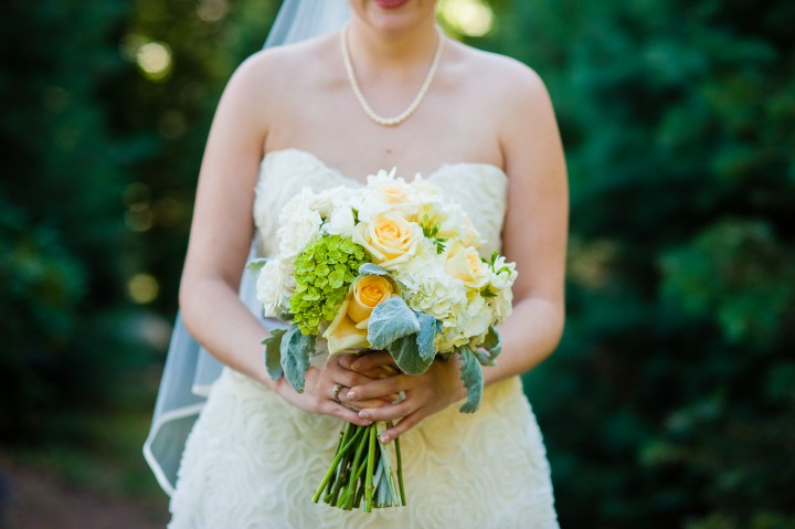gorgeous classic bridal bouquet featured stunning white and yellow flowers