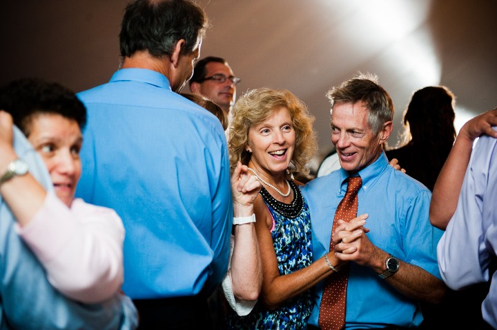wedding guests have fun on the dance floor