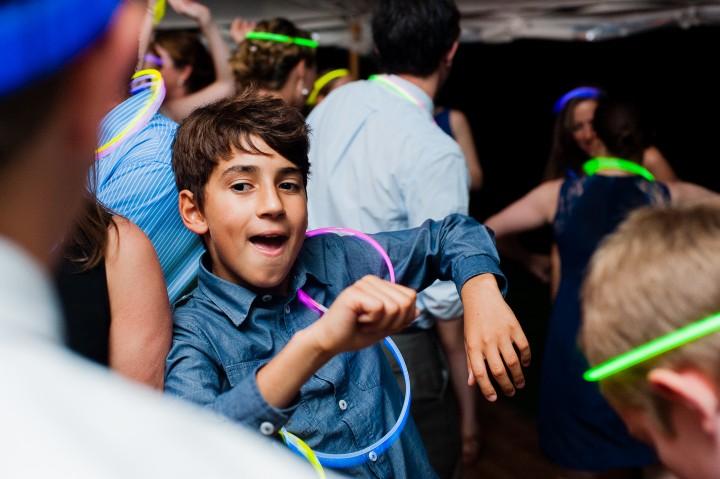 young wedding guest dances up a storm