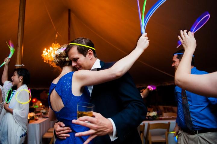 glow sticks were very popular on the dance floor