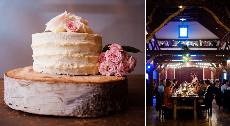 simple and very elegant white wedding cake