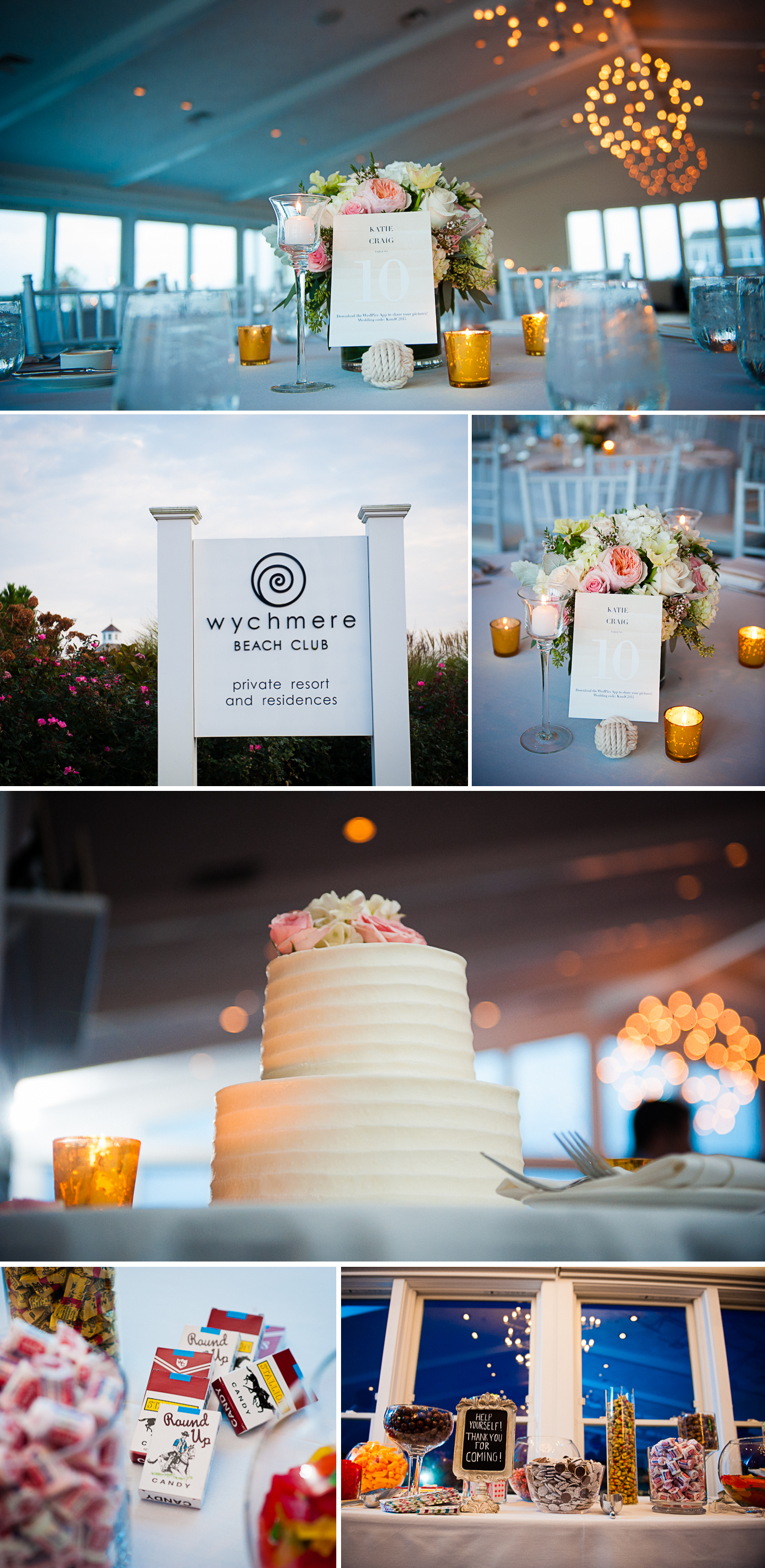 beautiful oceanside ball room with pink orange and white flowers