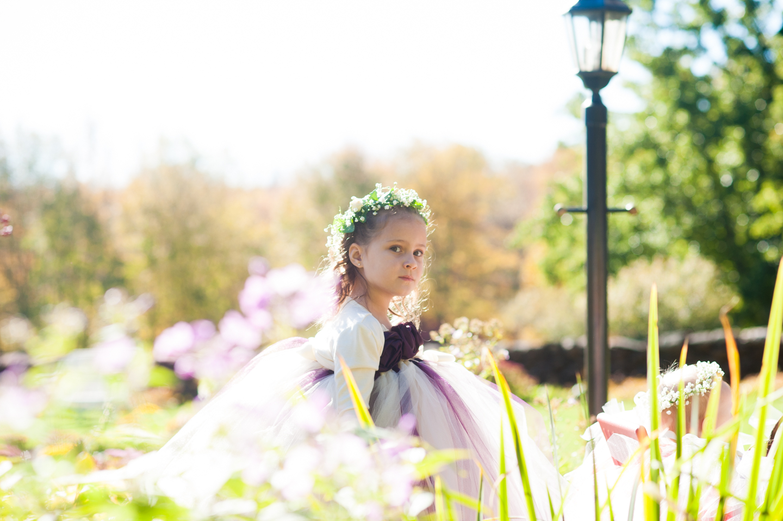 stunning fairytale flower girl garden wedding