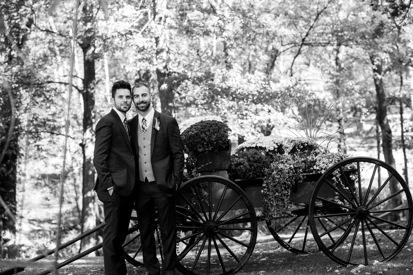 same sex wedding in the fall
