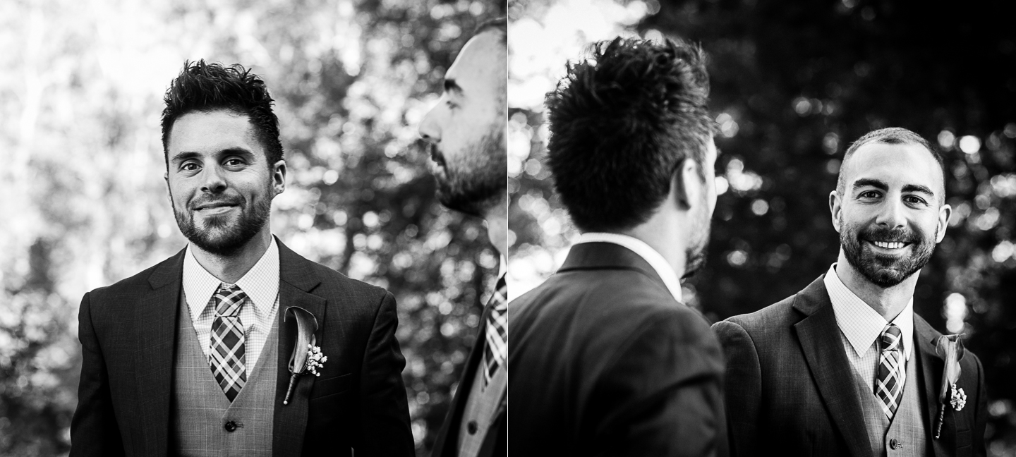 handsome groom portraits on their fall wedding  day