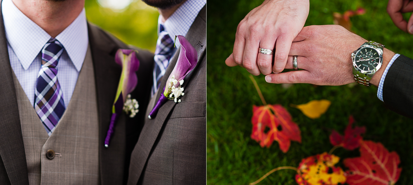 gorgeous fall wedding details for grooms