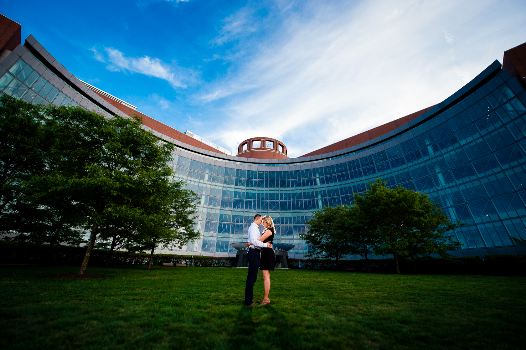 cool architectural engagement photo