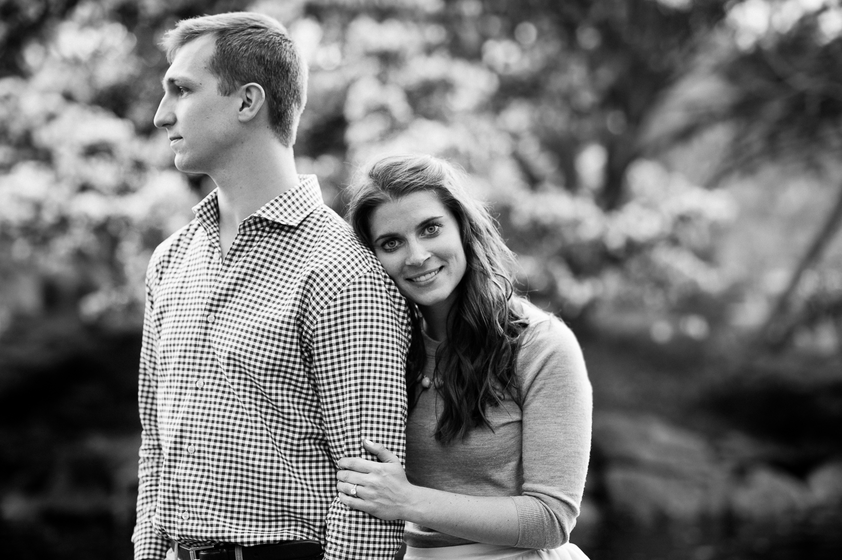 beautiful young couple engagement session asheville nc