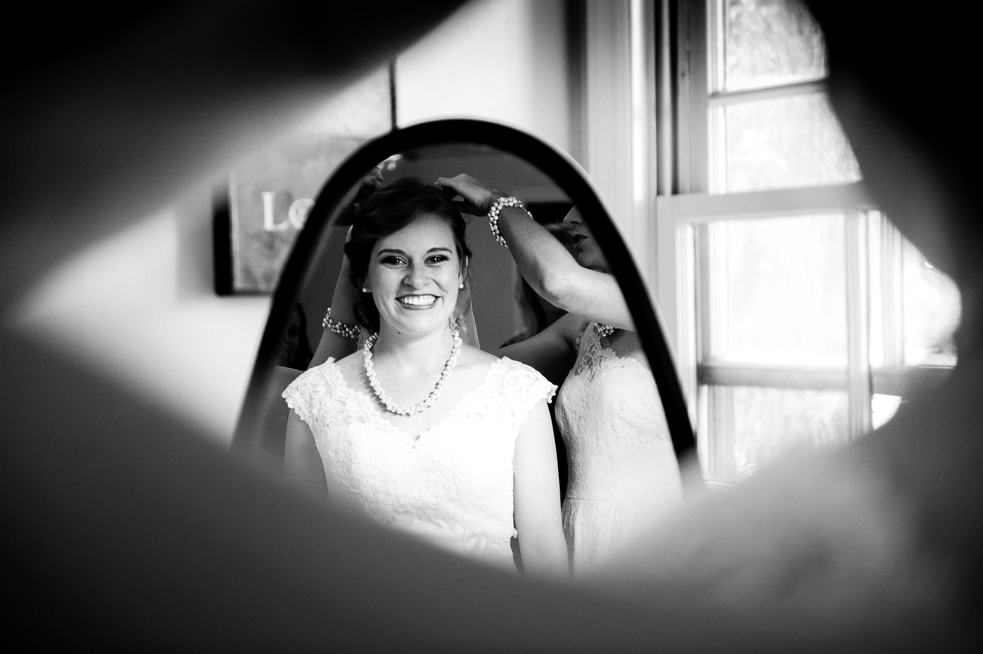 beautiful bride portrait at Magnolia Plantation
