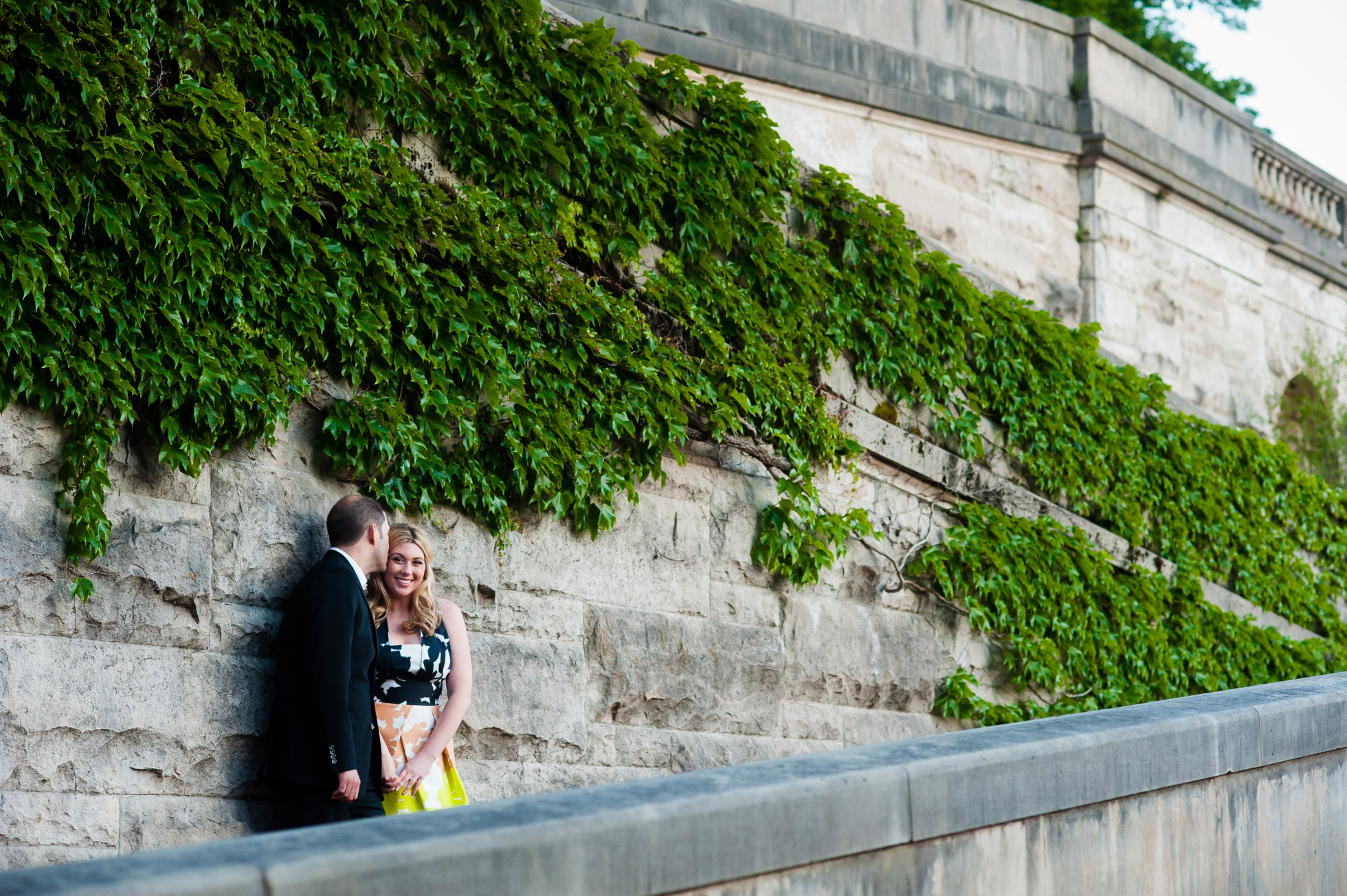 beautiful architecture at the biltmore estate during engagement session