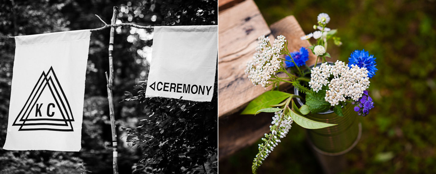 rustic asheville wedding details include custom logo