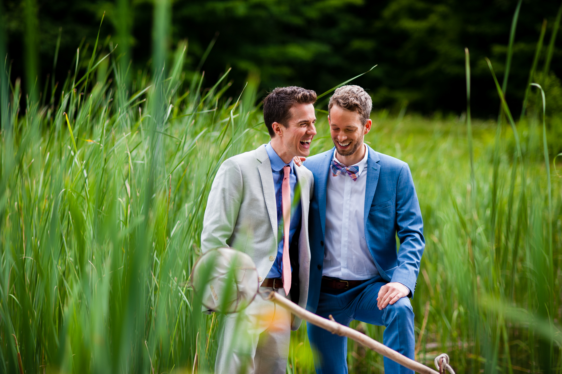 same sex asheville wedding portrait