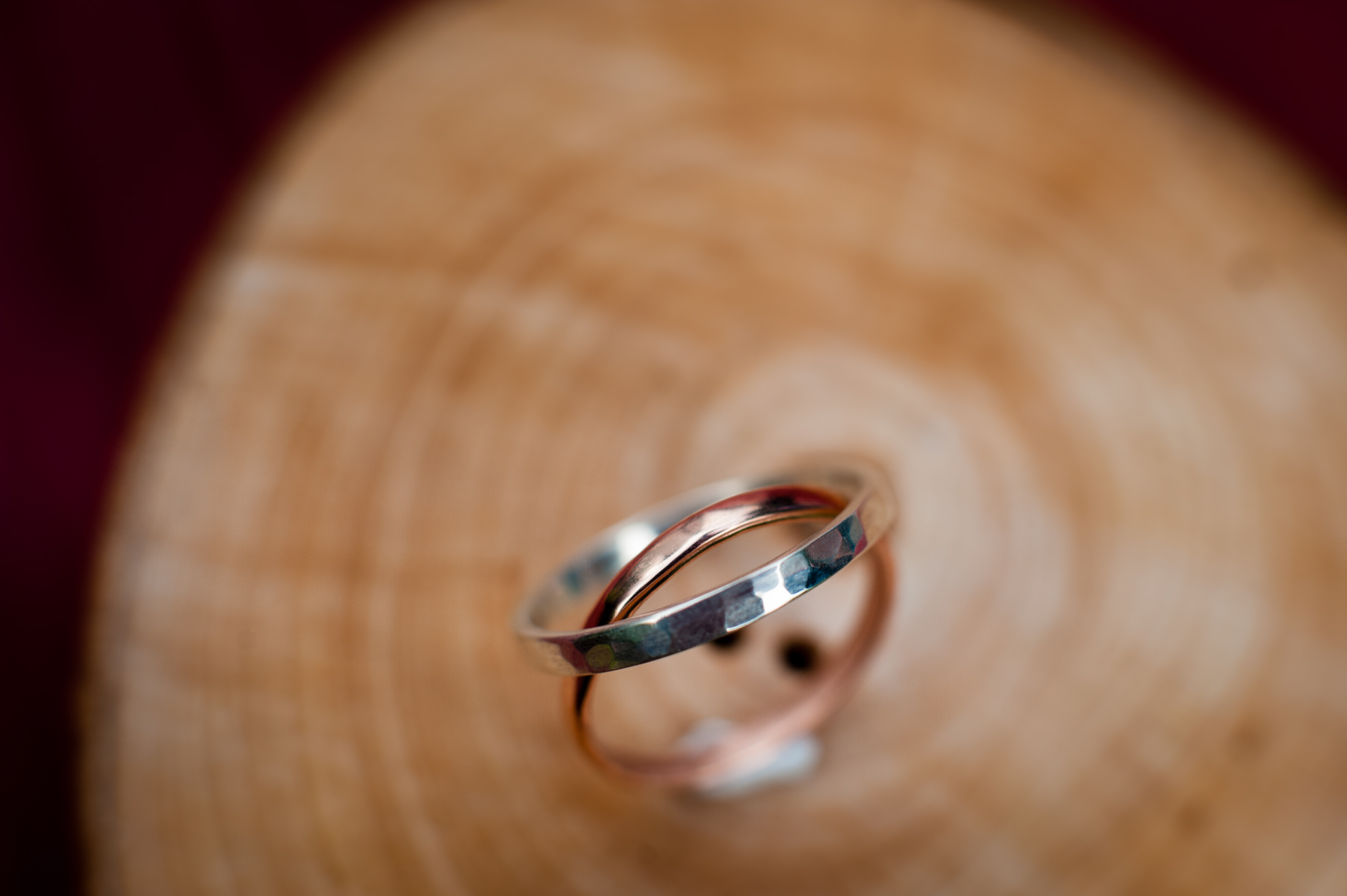 hand chiseled rustic wedding bands