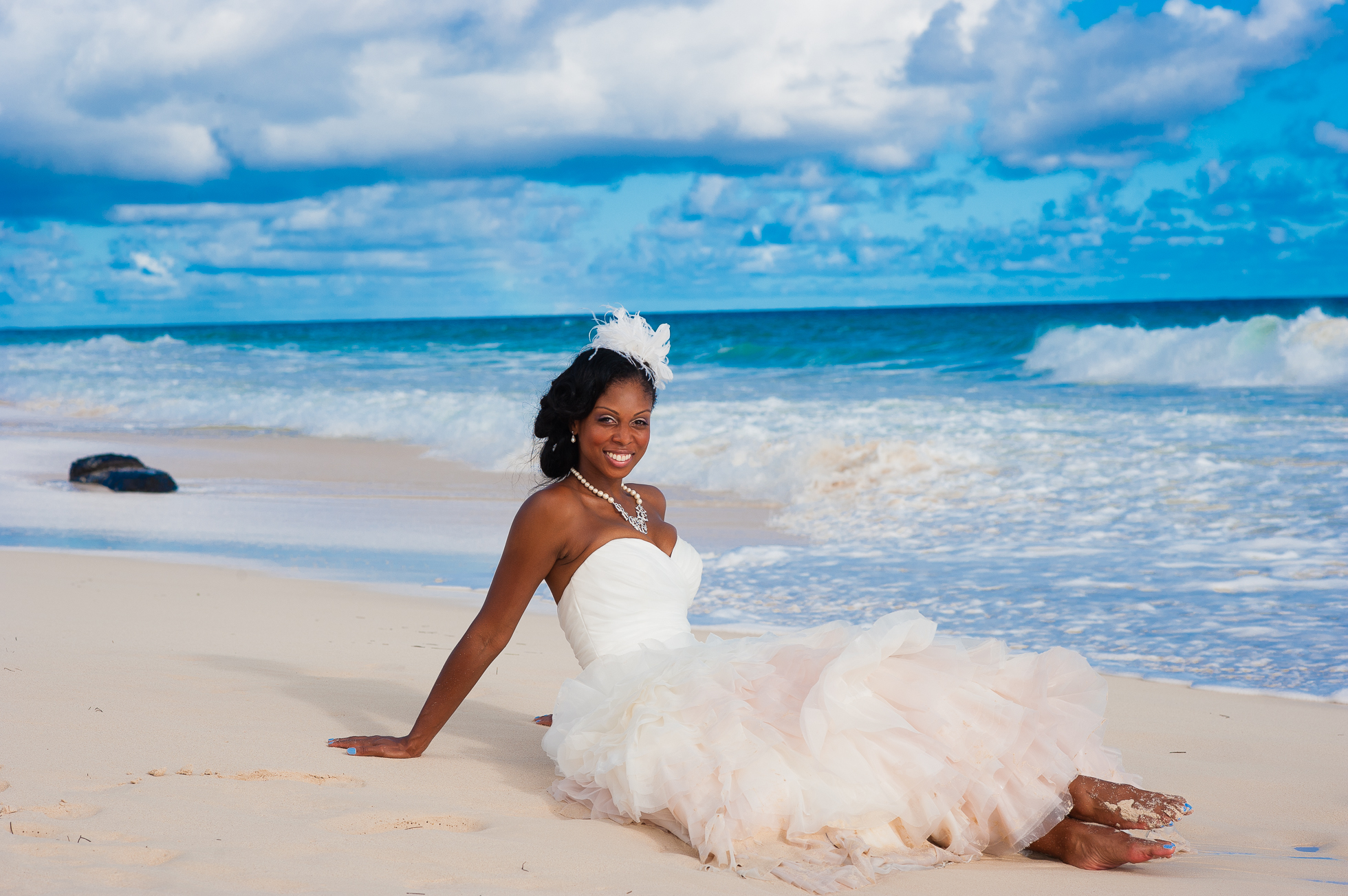 hard rock punta cana wedding bridal portrait