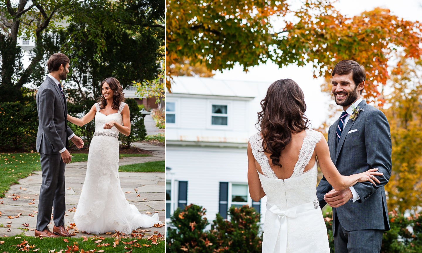 woodstock inn wedding first look