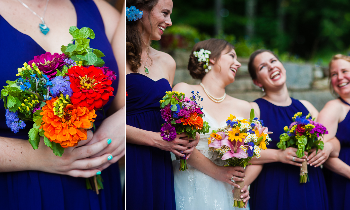 beautiful wildflowers from asheville wedding
