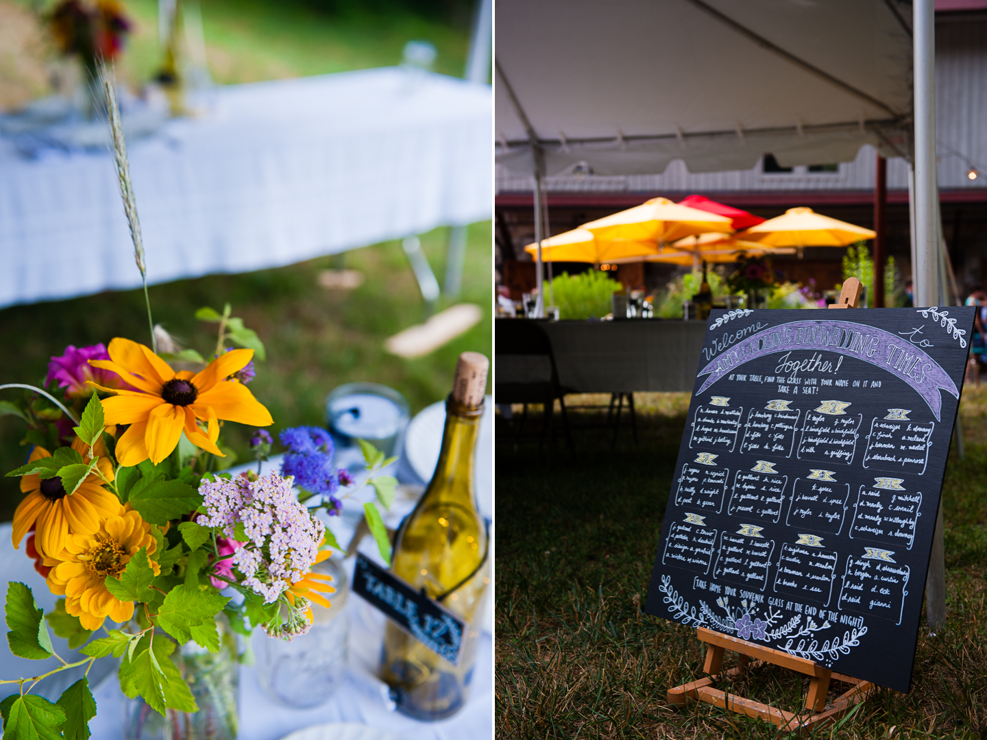 tented asheville wedding in the mountains