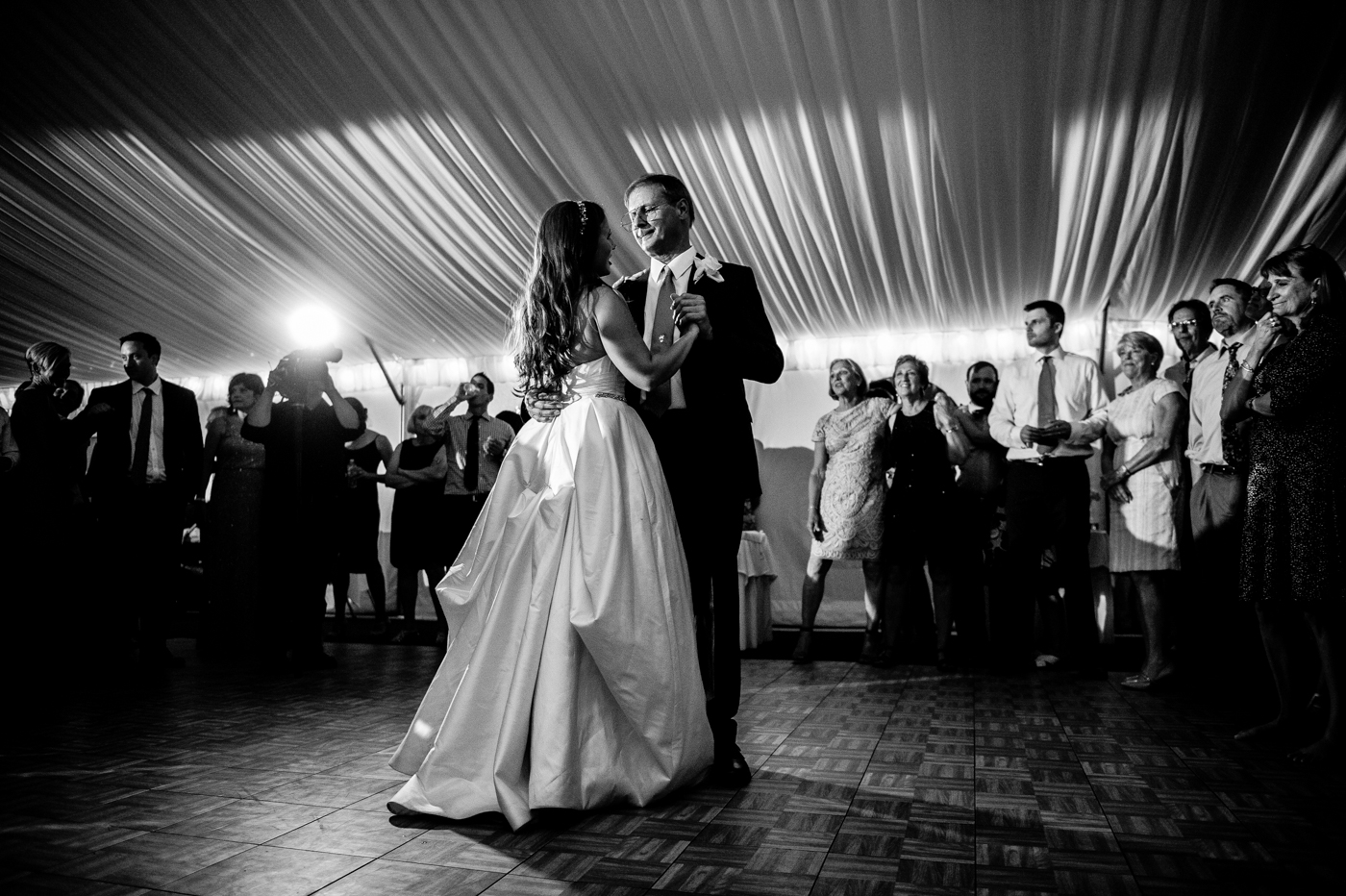 father daughter dance during asheville wedding